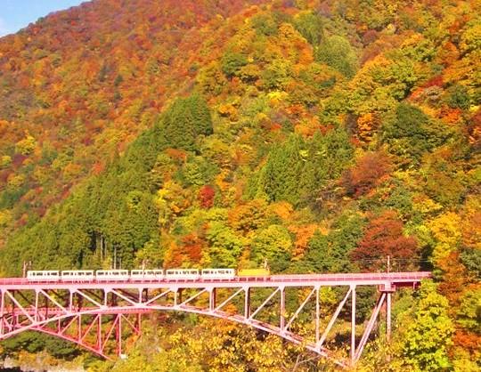 富山県:黒部峡谷の紅葉&宇奈月温泉
