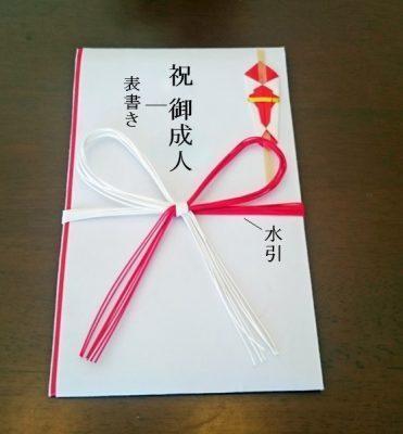 お祝い金を包むご祝儀袋の表書きの書き方